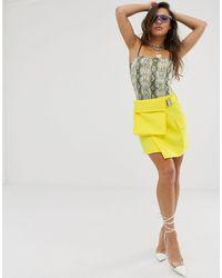 ASOS Utility Skirt With Bum Bag Detail - Yellow
