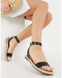 Call It Spring Redlip Two Part Flat Sandals - Black