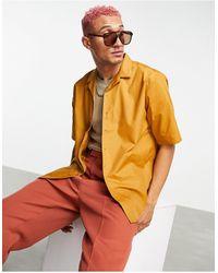 Ban.do Rudie Oversized Short Sleeve Revere Collar Shirt - Brown