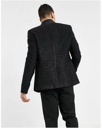 Bolongaro Trevor Облегающий Блейзер С Лацканами Из Атласа С Блестками -черный