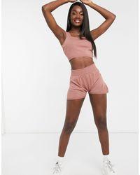 Fashionkilla Розовые Трикотажные Шорты -розовый Цвет