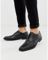 Redfoot Черные Кожаные Туфли На Толстой Подошве -черный
