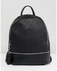 Stradivarius - Tassel Detail Mini Backpack - Lyst