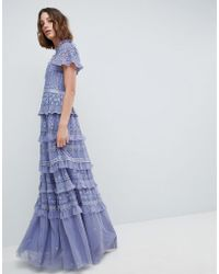 Needle & Thread - High Neck Layered Maxi Dress - Lyst