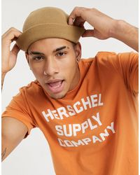 Herschel Supply Co. T-shirt girocollo arancione con logo