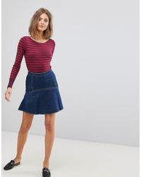 Esprit - Denim Flare Hem Mini Skirt - Lyst
