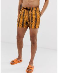 ASOS Swim Shorts - Orange