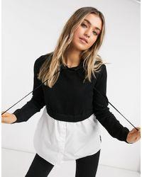 New Look Черный Худи «2-в-1» С Рубашкой -черный Цвет