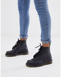 Dr. Martens Ботинки С 6 Парами Люверсов 101-черный Цвет