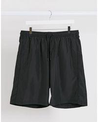 Weekday Heat Bermuda Swim Shorts - Black