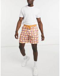 ASOS Трикотажные Oversized-шорты Со Сплошным Принтом В Клетку (от Комплекта) - Многоцветный