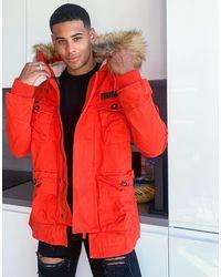 Superdry Rookie Heavy Weather Parka Jacket - Orange