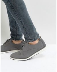 Call It Spring - Shysie Lace Up Shoes In Grey - Lyst