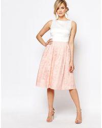 Oasis Organza Midi Dress - Pink