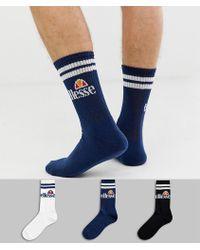 Ellesse Pullo 3-pack Socks In Multi - Blue