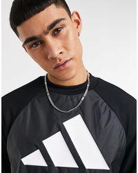 adidas Originals Adidas - Training - Sweat-shirt à logo 3 bandes - Noir