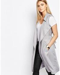 Oasis Sleeveless Jacket - Grey