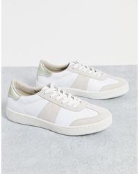 Karen Millen Baskets avec bande latérale - Blanc