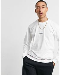 adidas Originals Linear Repeat Logo Long-sleeved T-shirt - White