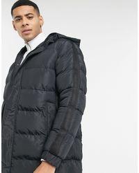 Brave Soul Утепленная Удлиненная Куртка -черный Цвет