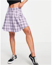 Lola May Minifalda a s plisada estilo tenista - Morado
