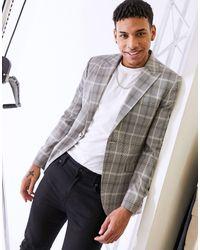 TOPMAN Skinny Suit Jacket - Grey