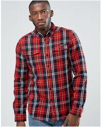 Criminal Damage Lumber Check Shirt - Red