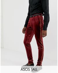 ASOS Tall - Pantaloni super skinny eleganti - Rosso