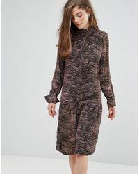 Gestuz - Iva Tiger Army Print Dress - Lyst
