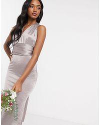 TFNC London Серое Платье Макси -серый