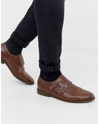 New Look - Monk Strap Shoes In Brown - Lyst