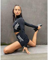 adidas Originals - Adidas Training 3 Stripe Booty Shorts - Lyst
