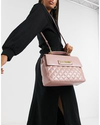 Love Moschino Quilted Satchel Bag - Pink