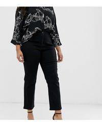 Simply Be Straight Leg Jeans In Black