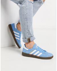 adidas Originals Синие Замшевые Кроссовки Handball Spezial-синий