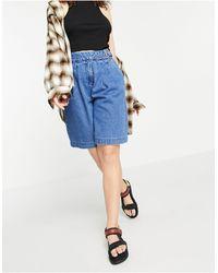 Vero Moda Shorts largos es - Azul
