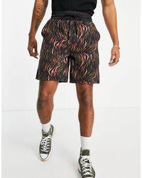Sixth June Shorts s con estampado tropical - Negro