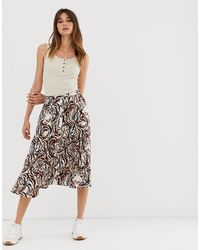Soaked In Luxury Tiger Print Skirt - Multicolour