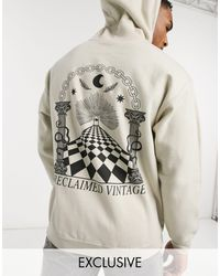 Reclaimed (vintage) Inspired Oversized Hoodie With Back Print - Multicolour