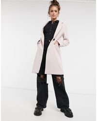 New Look Tailored Coat - Pink