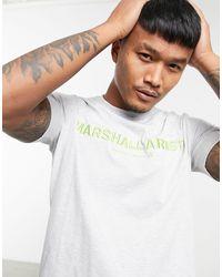 Marshall Artist Светло-серая Меланжевая Футболка С Логотипом -серый