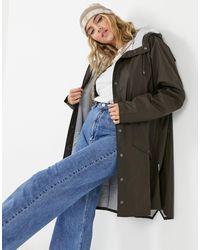 Rains - Коричневая Длинная Водонепроницаемая Куртка -коричневый - Lyst