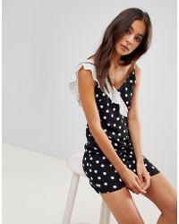 Oh My Love Cami Mini-jurk Met Ruche - Zwart