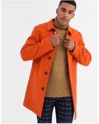 ASOS Wool Mix Trench Coat - Orange