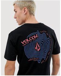 Volcom Listen T-shirt With Large Back Print - Black