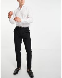 TOPMAN Pantaloni da abito skinny stile smoking neri - Nero