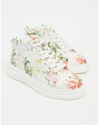 Fiorelli – Pippa– Hohe Sneaker mit Blumenmuster - Mehrfarbig