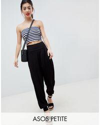 ASOS Asos Design Petite Ultimate Jersey Harem Trousers - Black