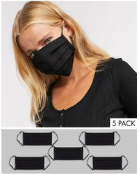 ASOS 5 Pack Face Covering - Black