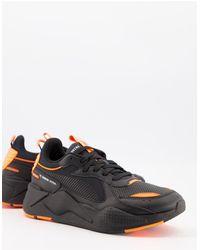 PUMA RS-X - Sneakers invernali nere e arancioni - Nero